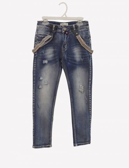 JEANS WITH SUSPENDERS...