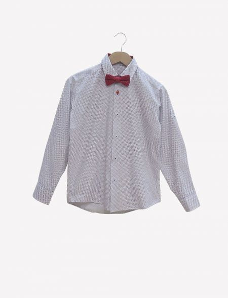 SHIRT WITH BOW TIE HASHTAG...