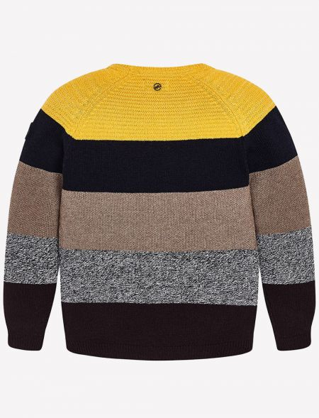 KNITTED JERSEY WITH STRIPES...