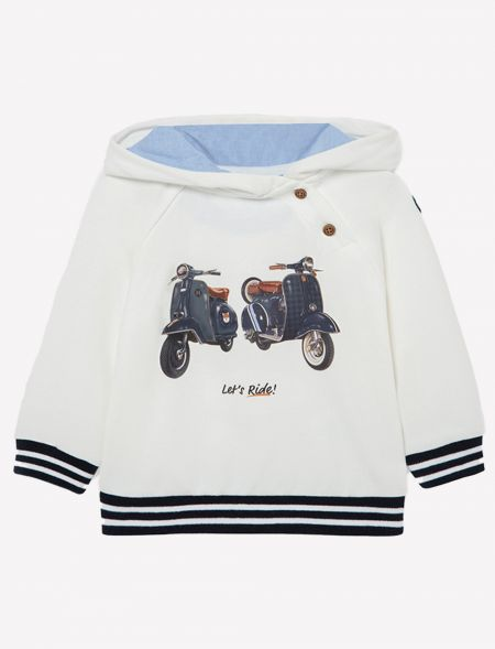Plaid pullover with hoodie...