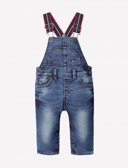 Soft denim long overalls...