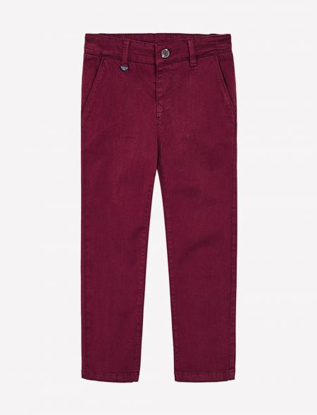 Patterned chino trousers...