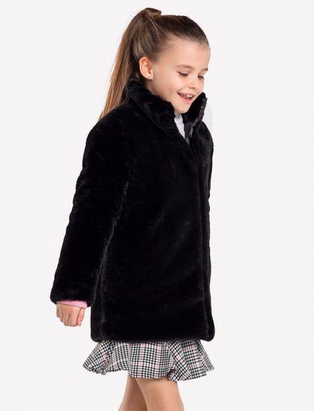 Faux fur coat for girl MAYORAL