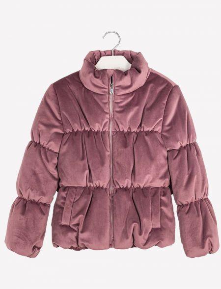 Velvet coat for girl MAYORAL