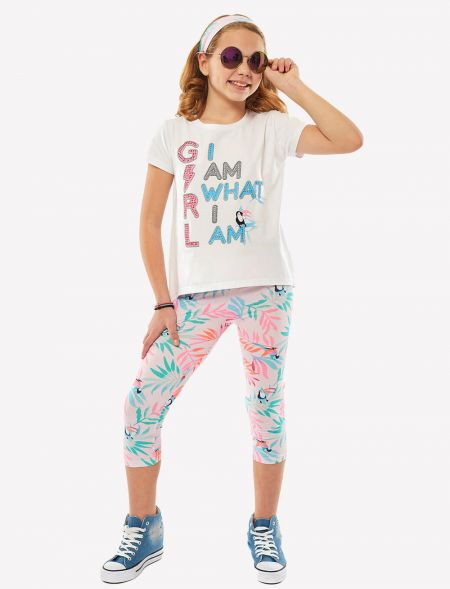 "SET LEGGINGS ""I AM WHAT I..."