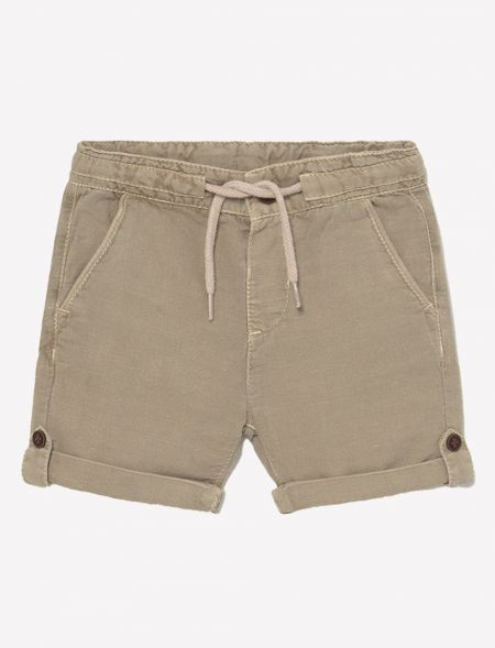 Linen casual shorts for...