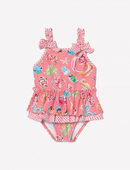 Ruffle swimsuit for baby...
