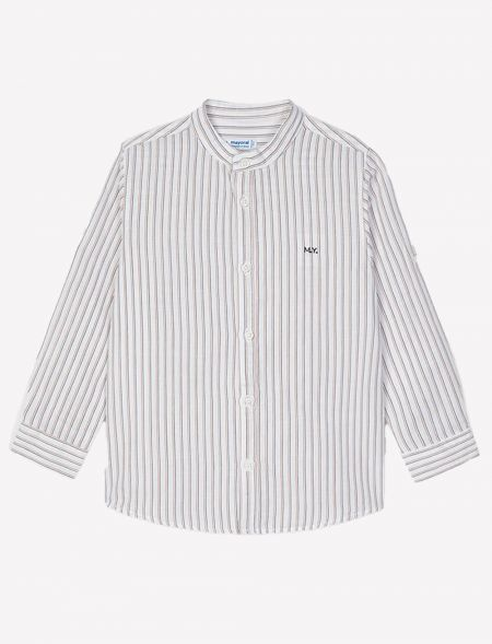 Linen shirt with grandad...