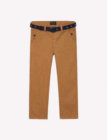 Piqué trousers with belt...