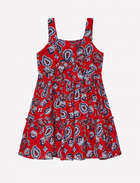 Strappy print dress for...