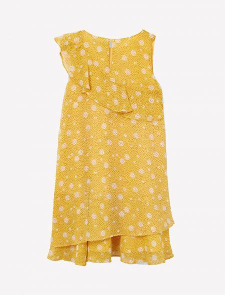 Flounce print dress girl...