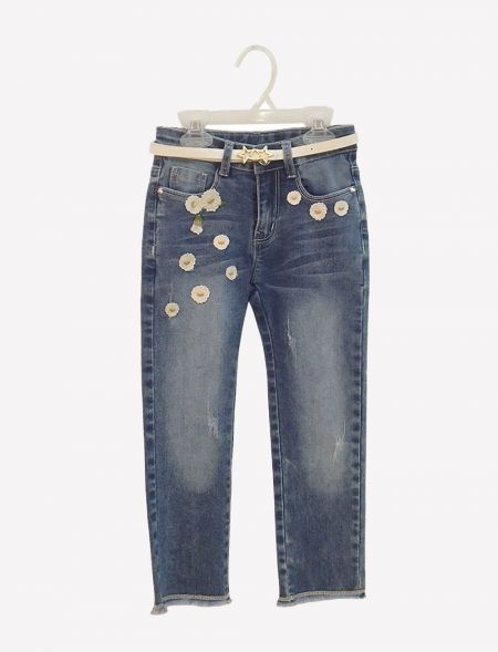 JEANS APPLIQUE DAISY WITH...