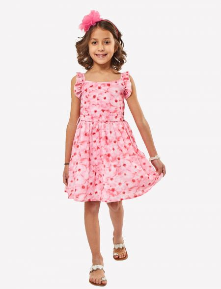 FLORAL DRESS WITH HEADBAND...