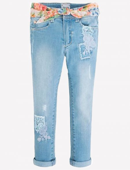 JEANS WITH APPLIQUE WITH...
