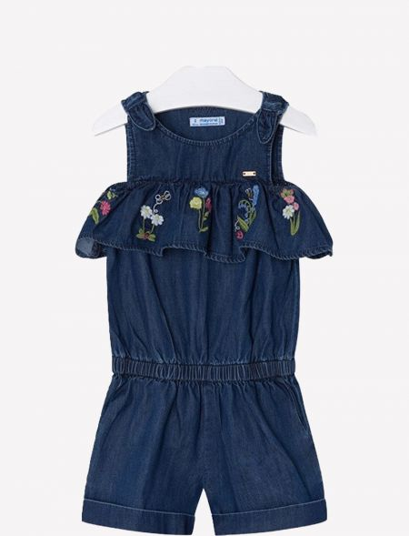 ONESIE EMBROIDERED RUFFLED...