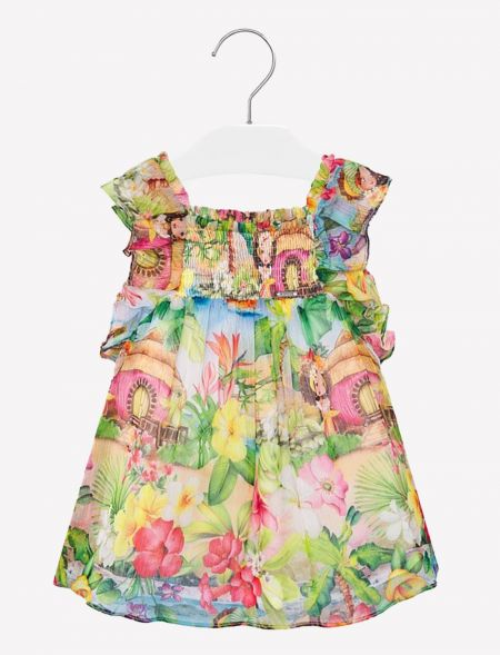 BABY RUFFLED FLORAL DRESS...