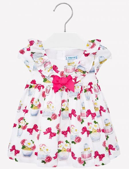 BABY DRESS DOTTED BOWS MAYORAL