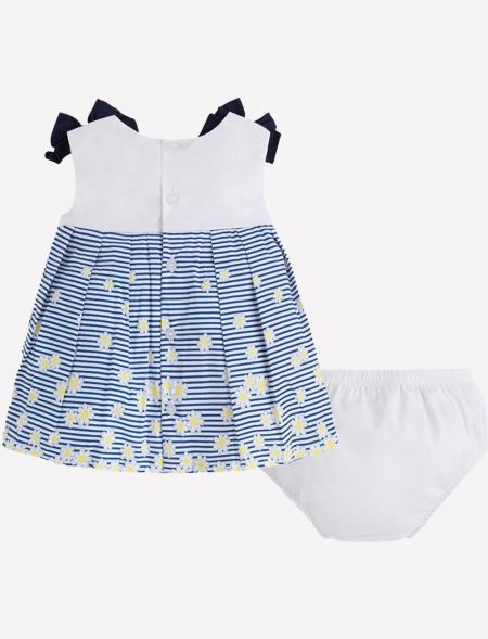 BABY DRESS STRIPES DAISIES...