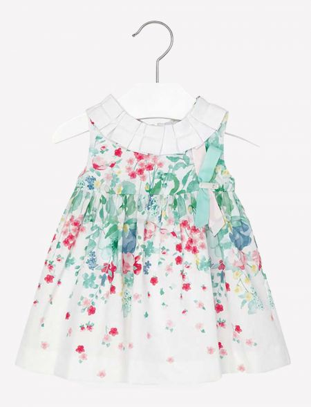 BORDER DRESS WITH FLOWERS...