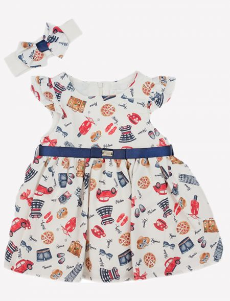 BABY PRINTED DRESS WITH...