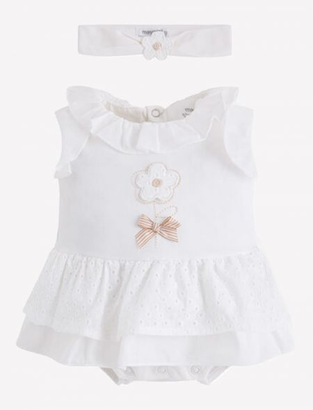 BABY ONESIE DRESS WITH...