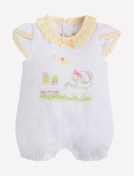 BABY ONESIE WITH RUFFLED...