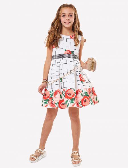 DRESS WITH FLOWERS PRINT EBITA