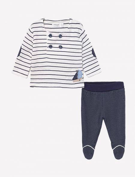 Striped knit leg warmer set...