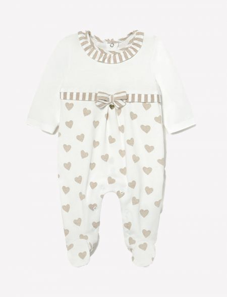 Knitted heart pyjama for...
