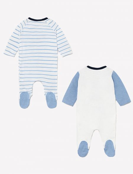 Set of 2 knit babygrows for...