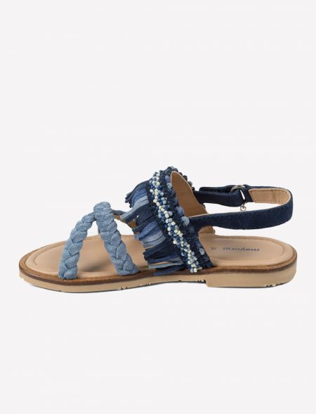 LEATHER SANDALS DECORATED...
