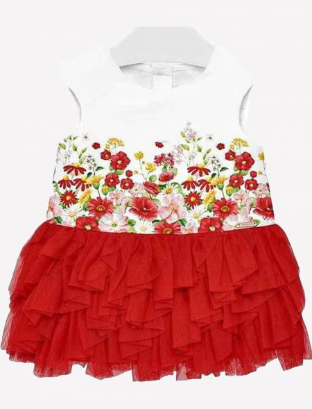 BABY DRESS TULLE GIRL MAYORAL