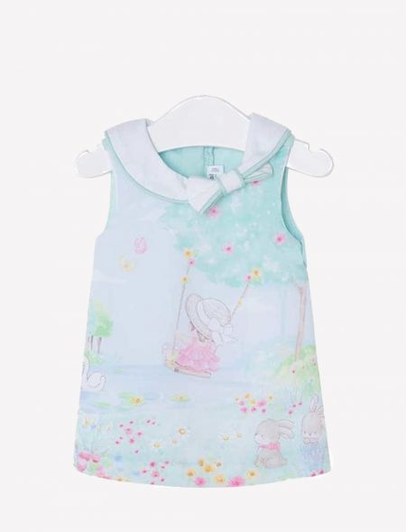 BABY DRESS WITH NECK COLLAR...