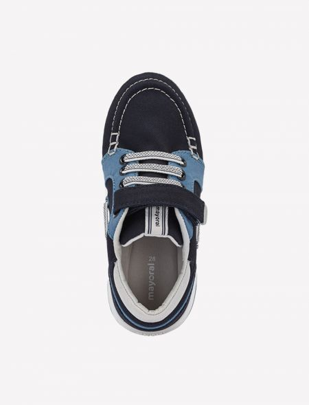 Textile boat shoes for boy
