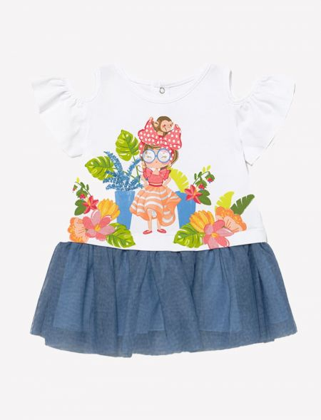 BABY DRESS WITH TULLE GIRL...