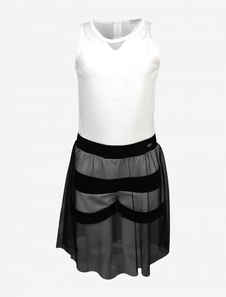 OVERALLS SHORTS WITH TULLE...