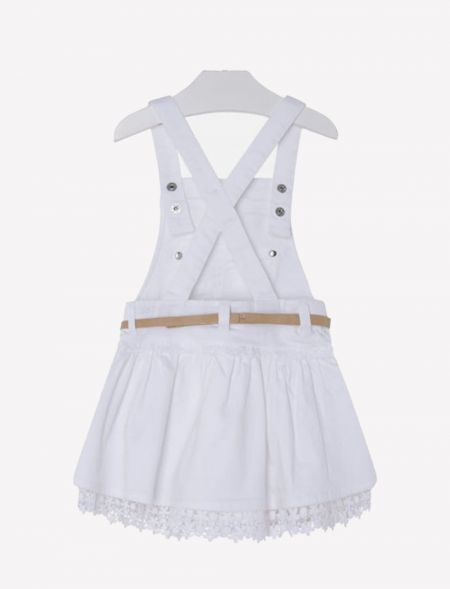 OVERALLS SKIRT WITH BELT...
