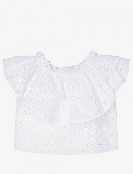 SMOCK LACED WITH RUFFLES...