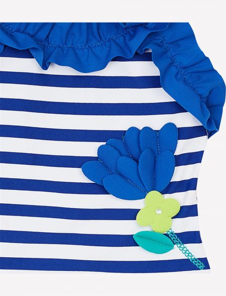 SWIMSUIT WITH STRIPES AND...