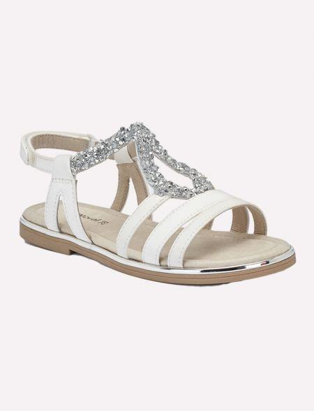Rhinestone sandals for girl...
