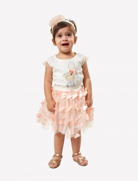 BABY OVERALLS SKIRT WITH...