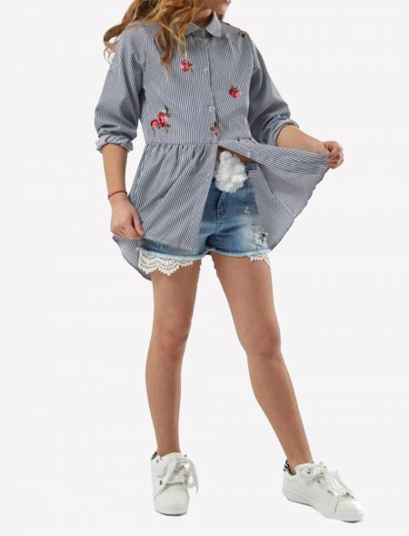 OVERSIZED SHIRT WITH...