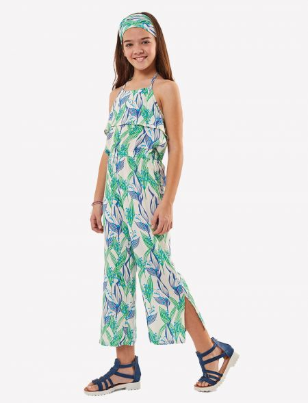 FLORAL OVERALLS WITH...
