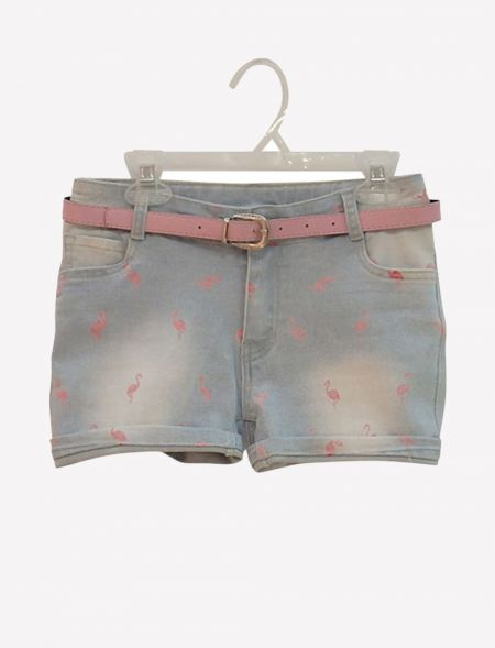 JEAN SHORTS WITH BELT...