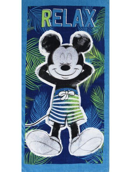 BEACH TOWEL MICKEY RELAX...